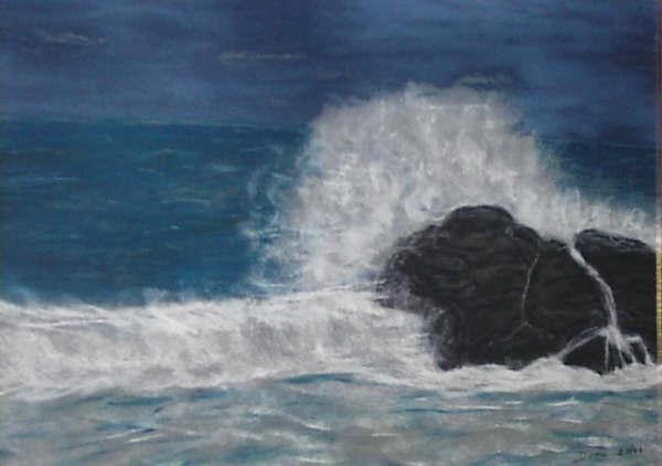 Tempête sur le rocher