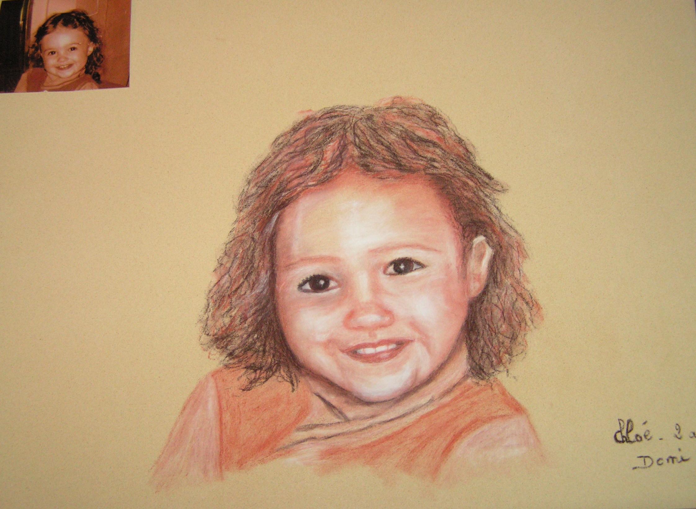 Portrait Chloé, 48×36
