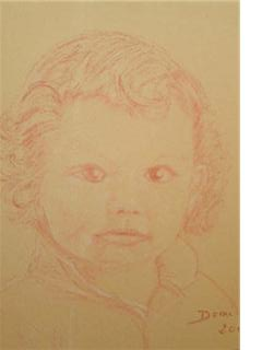 Portrait Florian 3ans 25x30
