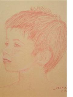 Portrait Mathis 5ans 25x30