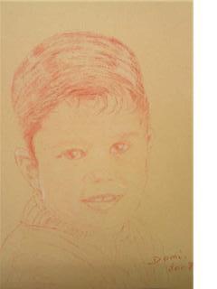 Portrait Thomas 8ans 30x25