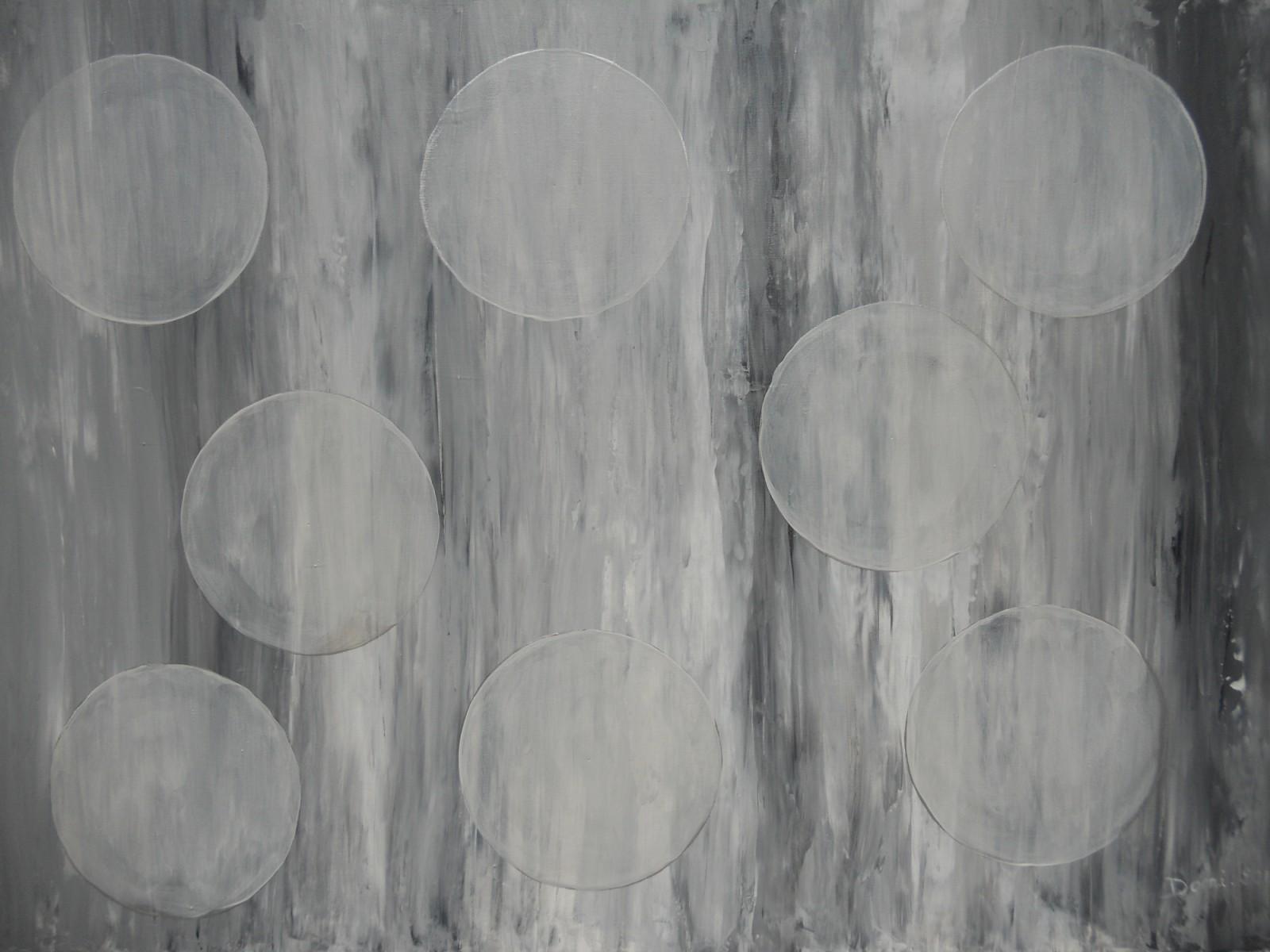 Bulles, acrylique, 70x50