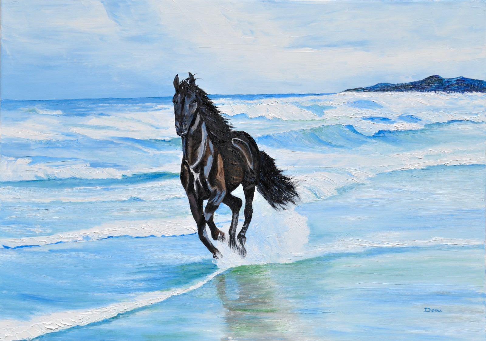 Galop, 50x70, huile