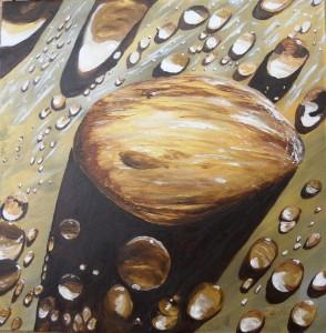 Copie de 232.Rosée dorée huile 40x40cm
