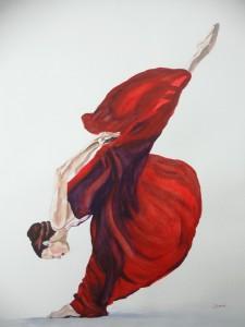 Copie de 233.Danse aquarelle 70x50cm