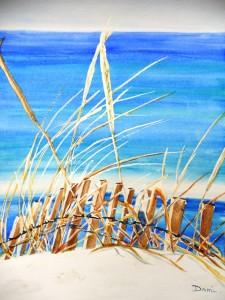 Copie de 234.Dune aquarelle 40x30cm