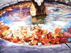 Copie de 275.lumière d'automne aquarelle 70x50cm
